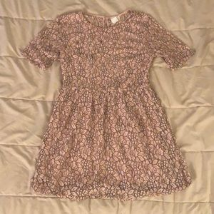 one clothing Dresses - Light Pink Flowered Dress